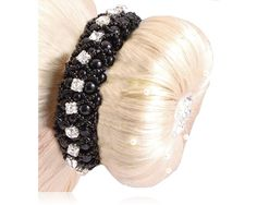 Turnieraccessoires : SD Design Perlen Haarband mit Strass