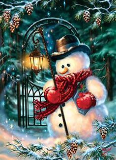 This Frosty the Snowman illustration is gorgeous, albeit kind of sad.