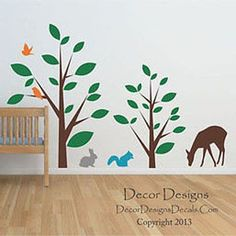 Animal Forest Vinyl Wall Decal Stickers