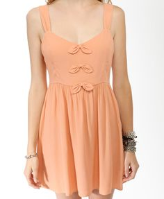 Textured Bow Trio Dress | FOREVER21 - 2000045263