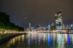 Brisbane by Night, Queensland, Australia - Wandering the World