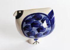 Rare art pottery bird Swedish Rorstrand Inger by KajsaCeramics
