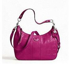 Gotta love this pink leather coach purse