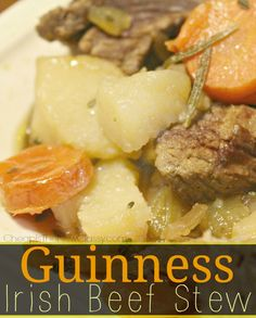 Guinness Beef Stew Recipe  http://cheapisthenewclassy.com/2015/02/guinness-beef-stew-recipe.html