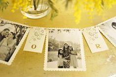 .picture table decor/banner