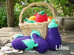 Des aubergines au crochet modèle gratuit