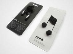 30 emballages créatifs et insolites qui rendraient nos courses bien plus rigolotes -Des écouteurs en forme de notes de musique
