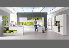 Our Modern Nobilia Kitchen Range offers a selection of colours, fronts and materials. Customise your German kitchen with A&S Home Design. Wardrobe Furniture, Cabin Furniture, Modular Furniture, Kitchen Furniture, Office Furniture, Nobilia Kitchen, Kitchen Ideas, Küchen Design, Interior Design
