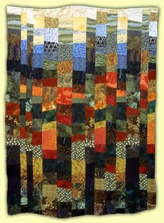 """""""Cazenovia Color"""" quilt by Susanne McCoy.  'Love the way the colors move and interact.suzannequilts.com"""