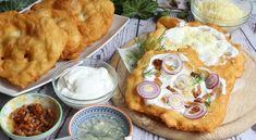 Piaci lángos | Receptkirály.hu Hummus, Ethnic Recipes, Food, Eten, Meals, Diet