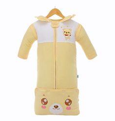 2017 Free Shipping Cotton Baby Blanket Organic Baby Sleeping Bag Kids Baby Sleep Sack With Sleeves Baby Wrap Newborn Sleepsack
