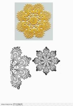 #_CANARY Small Crochet Round with chart.