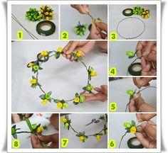 Cara Membuat Flower Crown: Cara Membuat Flower Crown pengen beli flower cr...