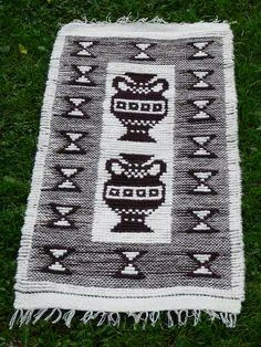 Vintage Swedish Wool Rug Handmade Rug Rag Hand Woven Wall Wool Decor Rug Scandinavian White Brown Bright Floor Runner @74 by vintageTEXTILESdecor on Etsy https://www.etsy.com/uk/listing/201295907/vintage-swedish-wool-rug-handmade-rug