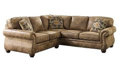 Larkinhurst - Earth Sectional @ Ashley Furniture  The sectional my mom wants....she just doesn't know it yet!