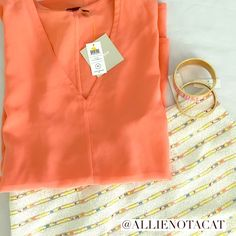 Host Pick  NWT Kate Spade sleeveless silk top Brand new with tags v neck sleeveless top in peach sherbert. Super versatile, can be dressed up or down. Relaxed fit. 100% silk. No trades or PayPal. I am open to offers made through the offer feature. kate spade Tops Tank Tops
