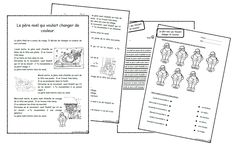 Le père noël qui voulait changer de couleur - Dix mois French Christmas, Christmas Holidays, Core French, Theme Noel, Home Activities, Teaching French, Reading Comprehension, Kids Learning, Cycle 2