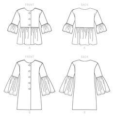 Kwik Sew Sewing Pattern Misses' Jacket Pattern Books, Pattern Paper, Kwik Sew Patterns, Flat Sketches, Extra Fabric, Jacket Pattern, Lining Fabric, Fashion Flats