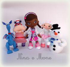 Bonecos Doutora Brinquedos de feltro