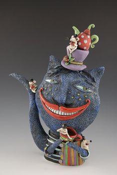 Natalya Sots - Cheshire Cat Teapot