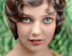 A colourised photo of Loretta Young, who would go on to be a major star in the 40s and 50s. This picture would have been taken when she was around 10 years old and had first started appearing in films.