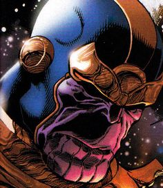 Thanos (seen at the end of the Avengers, and rumored to be villian in Avengers 2)