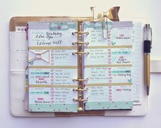 Week 6 Theme: Valentine's Day, Version 1. Colors: Mint Green, Red, and Gold. Classic White Color Crush Planner.