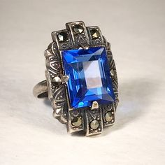 Antique Jewelry, Vintage Jewelry, Antique Restoration, Art Deco Design, Marcasite Ring, Mother Of Pearl Necklace, Sapphire Jewelry, Mystic Topaz, Art Deco Ring