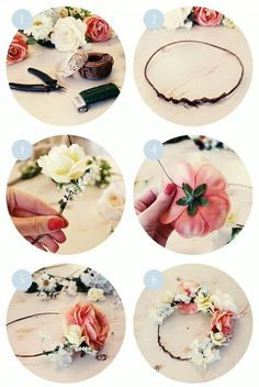 diy flower crown. YES! New project to add to the list