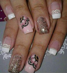 Nail Polish Designs, Nail Art Designs, Toe Nails, Pink Nails, Feather Nail Art, Marble Nail Art, Girls Nails, Make Color, Creative Nails
