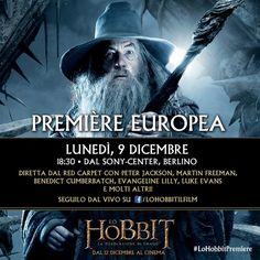 Premiere europea per La Desolazione di Smaug (with images, tweets) · hobbitfan #LoHobbit #DesolazionediSmaug #TheHobbit #Hobbit