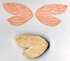 """""""Wings"""" - Carved Stamp by DuoHearts, via Flickr"""