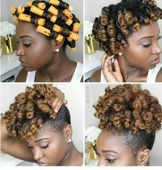 Curly puff updo