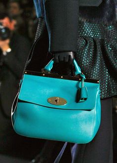 Mulberry + Bright Aqua