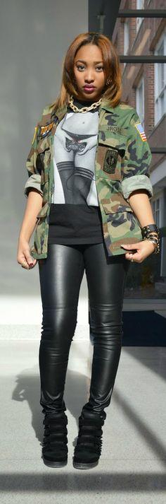 Ecstasy Models — Style By Saba Style By Nathalia Camo Fashion, Dope Fashion, Fashion Killa, Fashion Models, Girl Fashion, Fashion Outfits, Womens Fashion, Models Style, Camouflage Fashion