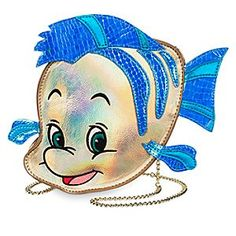 From sea to street style, this Flounder Crossbody Bag by Danielle Nicole will definitely make a splash. Ariel's adorable fishy friend is crafted in metallic faux leather with an iridescent shimmer.