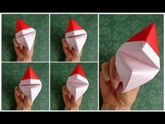 Origami tutorial and video instruction on how to Make an Origami Santa Claus Puppet. SUBTÎTULOS EN ESPAÑOL • Leyla Torres Origami Spirit Video tutorial serie...