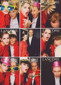 And then this happened. Tom Hiddleston and Emma Watson. Two of my favourite people doing a goofy photo booth thing together. I can die happy...