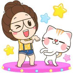 Cute Cartoon Images, Cute Cartoon Drawings, Cute Love Cartoons, Cartoon Gifs, Action Wallpaper, Happy Gif, Good Night Greetings, Cute Love Gif, Panda Love