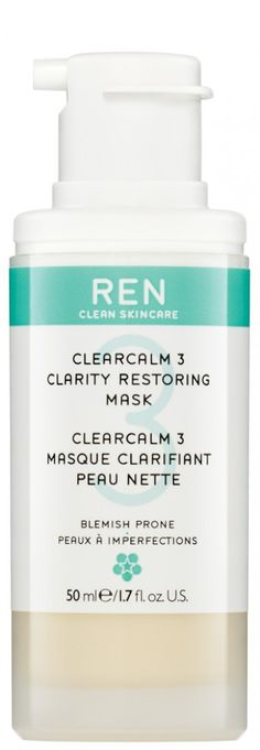 ClearCalm 3 Clarity Restoring Mask. 50 ML £30.00. Licochalcone, from Japanese Licorice Extract, reduces the activity of the 5-α Reductase enzyme responsible for sebum production. Sulphur encourages the skin to shed dead cells while Zinc Gluconate absorbs sebum. Salicilin from Willow Bark, gently exfoliates to decongest blocked pores. Anti-bacterial and anti-microbial actives target breakout-causing bacteria and Bisabolol from English Chamomile helps reduce inflammation and redness