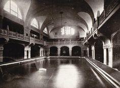 HANNOVER Männerschwimmbad  Goseriede, vor dem 2. Weltkrieg.