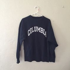 Vintage Columbia University Sweatshirt Old but decent condition, navy blue. Vintage Sweaters