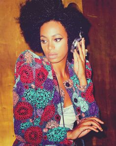 Solange Knowles. I really like her style! It's cool and bright :)