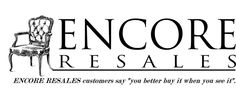The new Encore Resales Blog featuring merchandise and the Encore vendors.