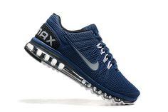 Nike Air Max 2003 Zapatos De Hombre Azul Blanco 5001