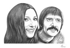 Sonny and Cher sketch by Murphy Elliot