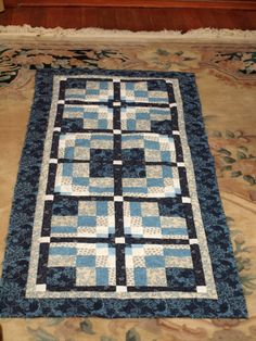 Bargello with a twist table runner
