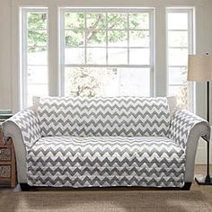 Lush Decor has a large selection of multi-functional furniture protectors, such as the Chevron Gray Furniture Protector. Protect your investment and add style at the same time with the unique Chevron Gray Furniture Protector! Sofa Couch, Loveseat Slipcovers, Furniture Slipcovers, Cushions On Sofa, Couches, Chevron Furniture, Blue Furniture, Modern Furniture, Modern White Living Room