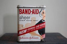 Vintage Band Aid Tin by madjoy22 on Etsy---SOLD