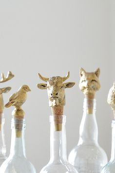 These critters add a touch of whimsy and personality to your bar cart.